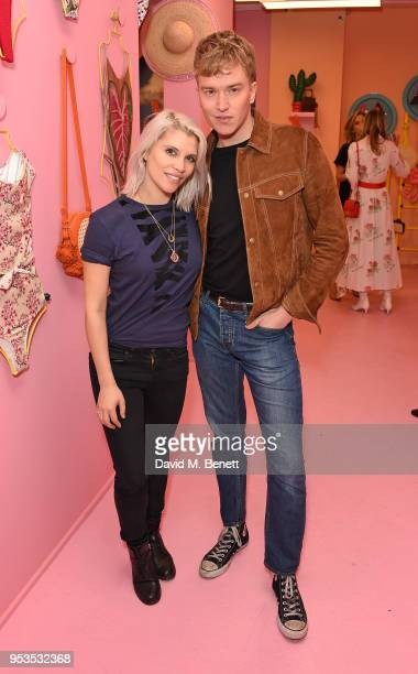 Pips Taylor and Fletcher Cowan attend the Koibird store launch on May 1 2018 in London England