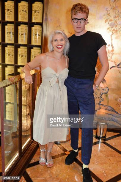 Pips Taylor and Fletcher Cowan attend the TWG Tea Gala Event in Leicester Square to celebrate the launch of TWG Tea in the UK on July 2 2018 in...
