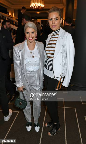 Pips Taylor and Nicki Shields attend the GQ Food Drink Awards at Rosewood London on April 23 2018 in London England