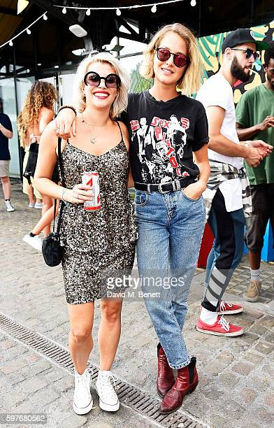 Pips Taylor and Tess Ward attend the Converse party at Notting Hill Carnival to celebrate the new carnival inspired Converse Custom Chuck Taylor All...