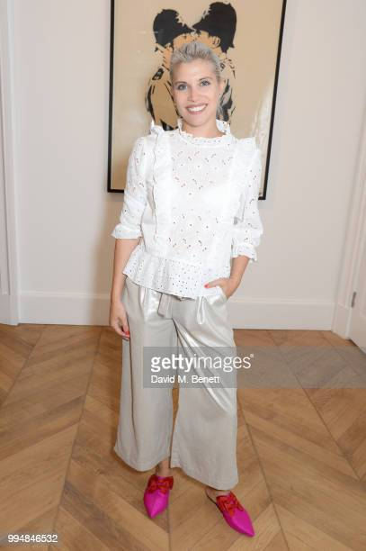 Pips Taylor attends the Bansky 'Greatest Hits 20022008' exhibition VIP preview at Lazinc on July 9 2018 in London England