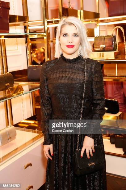 Pips Taylor attends the new flagship store launch of Aspinal on Regent's Street St James's on December 5 2017 in London England