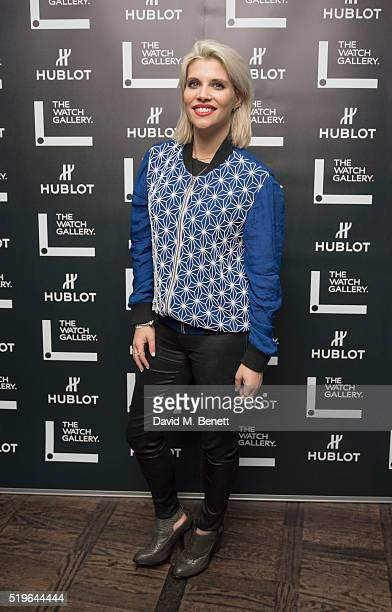 Pips Taylor attends The Watch Gallery And Hublot Launch introducing the Classic Fusion Special Edition Series on April 7 2016 in London England