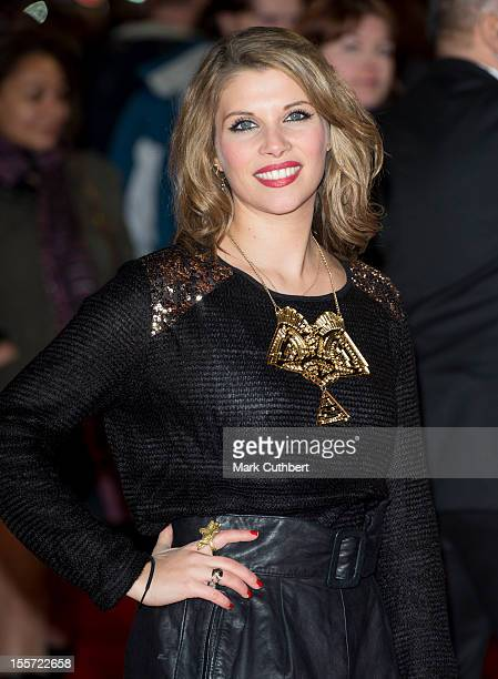 """Pips Taylor attends the World Premiere of """"Gambit"""" at Empire Leicester Square on November 7, 2012 in London, England."""