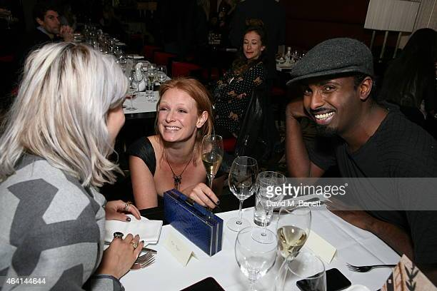 Pips Taylor Olivia Inge Mason Smillie attends the PPQ postshow dinner during London Fashion Week Fall/Winter 2015/16 at Brasserie Chavot on February...