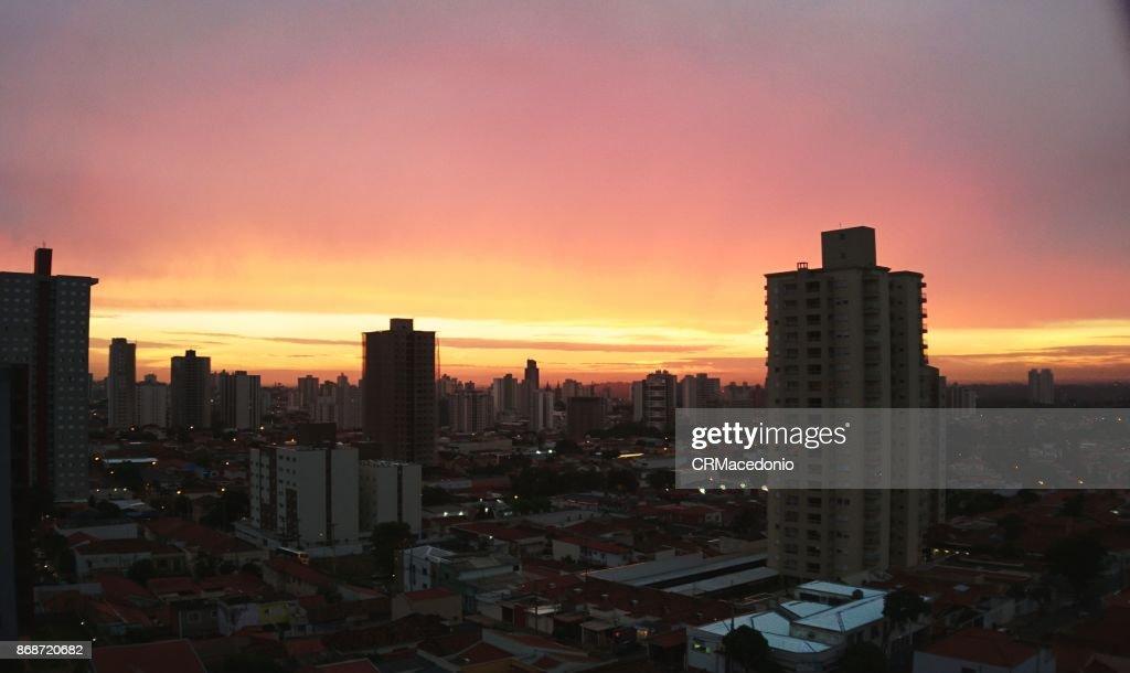 Piracicaba sunset : Stock Photo