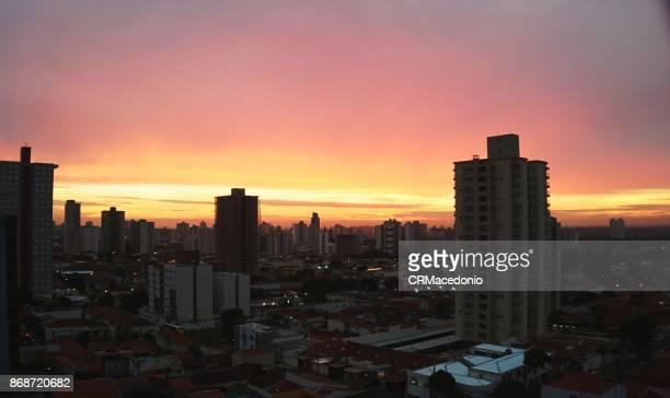 piracicaba sunset - crmacedonio stockfoto's en -beelden
