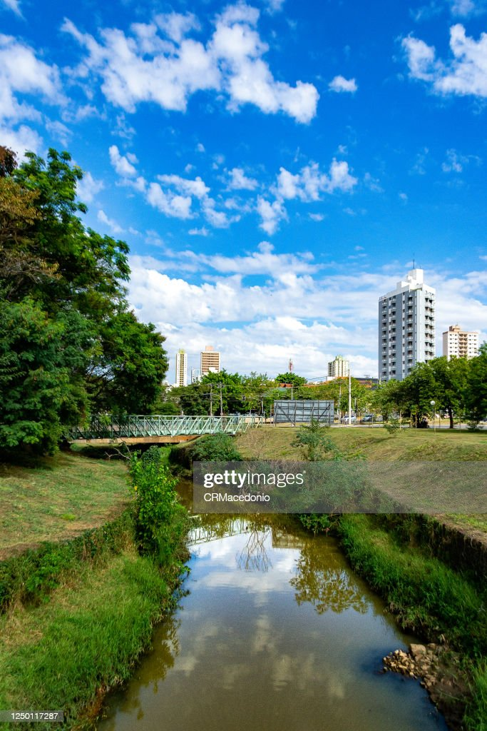 Piracicamirim Stream cuts through part of the city, sustaining beauty and life. : Stock Photo