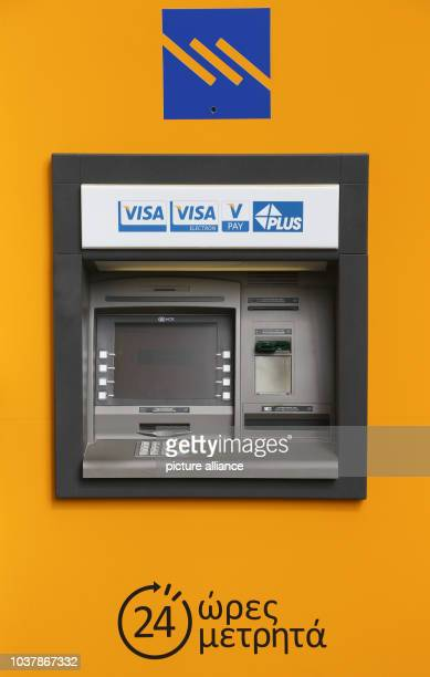 A Piraeus Bank ATM in Nicosia Cyprus 17 September 2015 PHOTO FRISO GENTSCH/DPA | usage worldwide
