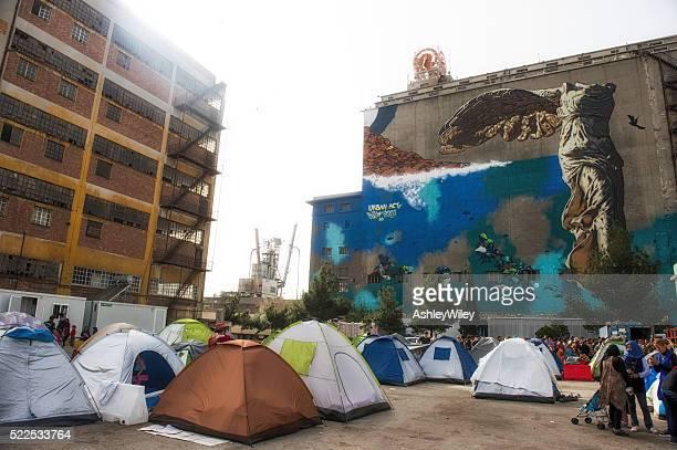 Piraeus Port Refugee Camp