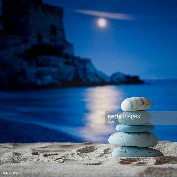 piramid stone on beach in amalfi coast, italy - mini moon stock pictures, royalty-free photos & images