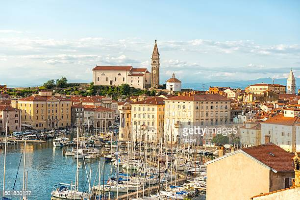 piran slovenia - slovenia stock pictures, royalty-free photos & images