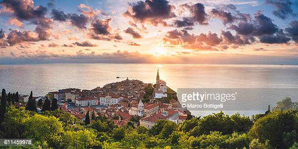 piran, slovenian istria, primorska region,slovenia, east europe. - slovenia stock pictures, royalty-free photos & images