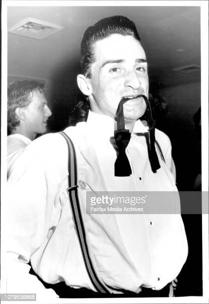 Pirana's Nightclub Surry Hills Ignatius Jones in dressing room February 10 1987