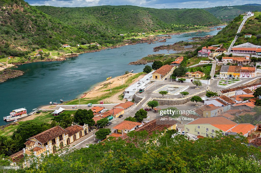 Piranhas: historical city of northeastern Brazil : Stock Photo