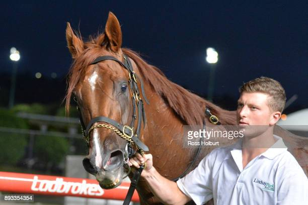 Pirapala after winning the IGA Supermarkets Handicap at Moonee Valley Racecourse on December 15 2017 in Moonee Ponds Australia