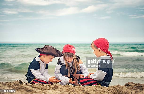 Pirate kids and their treasure