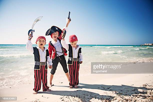 pirate kids - female pirate stock photos and pictures