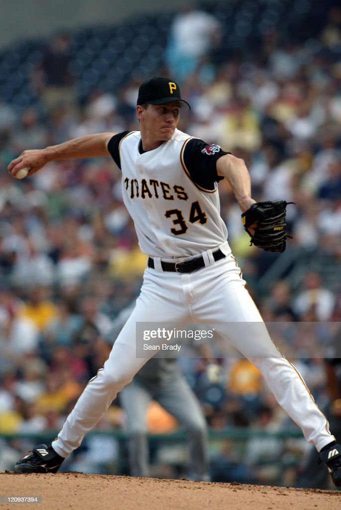 Pirate Kris Benson throws against Milwaukee at PNC Park in Pittsburgh, Pennsylvania July 3, 2004