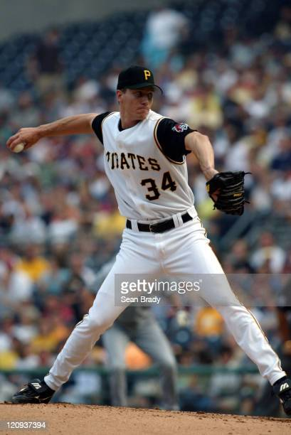 Pirate Kris Benson throws against Milwaukee at PNC Park in Pittsburgh Pennsylvania July 3 2004