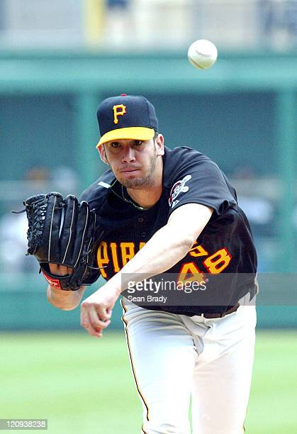 Pirate Oliver Perez in early action against Pittsburgh at PNC Park Pittsburgh Pennsylvania July 18 2004