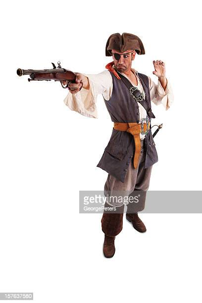 Pirate Shooting Gun with Clipping Path.