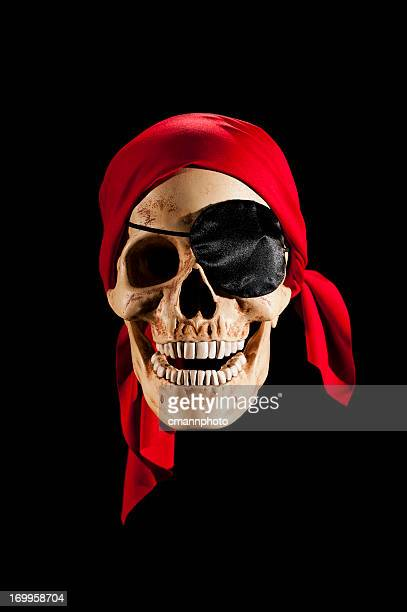 Pirate Skull wearing a red bandanna