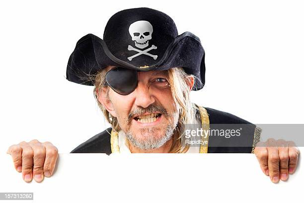 Pirate with sign