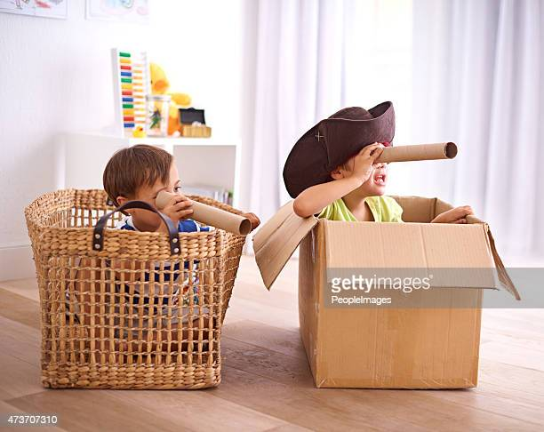 pirates at play - imagination stock pictures, royalty-free photos & images