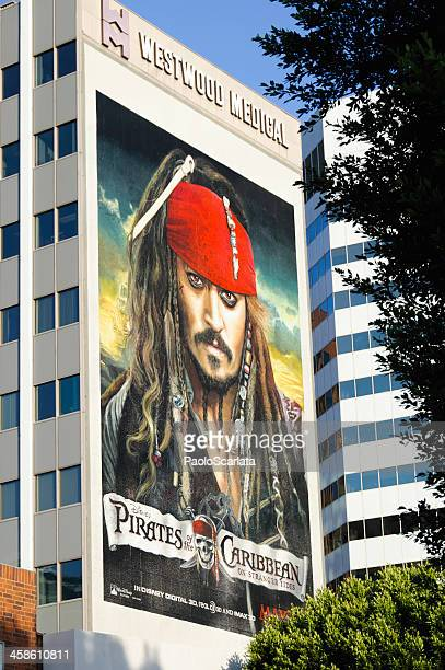 pirates of the caribbean: on stranger tides - billboard poster - westwood neighborhood los angeles stock pictures, royalty-free photos & images