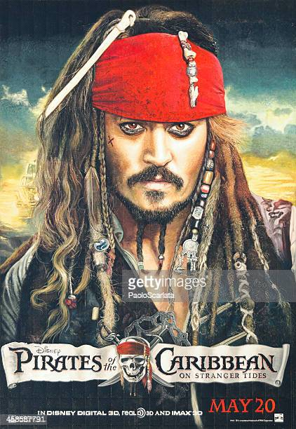 pirates of the caribbean: on stranger tides - poster - movie poster stock photos and pictures