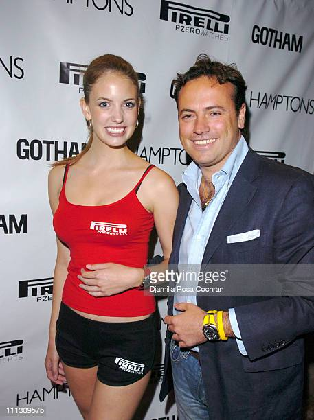 Pirelli Model and Sebastiano Di Bari during Pirelli Watches and Hamptons Magazine Host the Golf Classic Party at Cain in Southampton, NY, United...