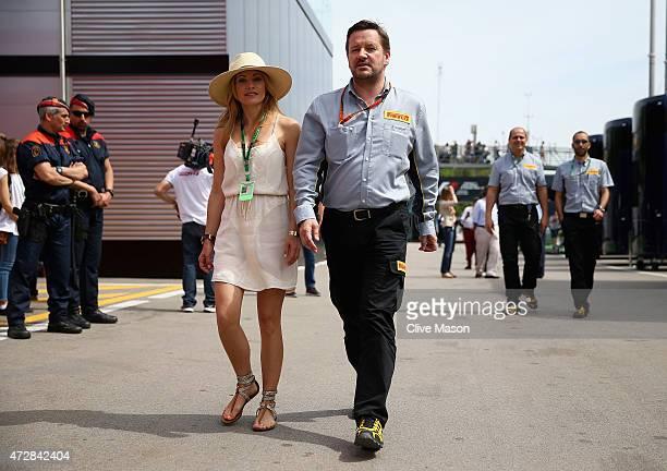 Pirelli Motorsport Director Paul Hembery walks through the paddock during the Spanish Formula One Grand Prix at Circuit de Catalunya on May 10 2015...
