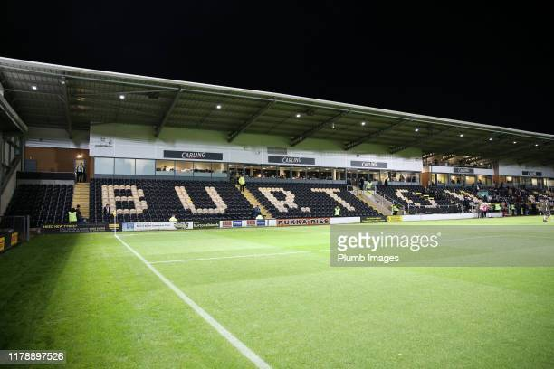 Pirelli Stadium ahead of the Carabao Cup Round of 16 match between Burton Albion and Leicester City at Pirelli Stadium on September 29, 2019 in...