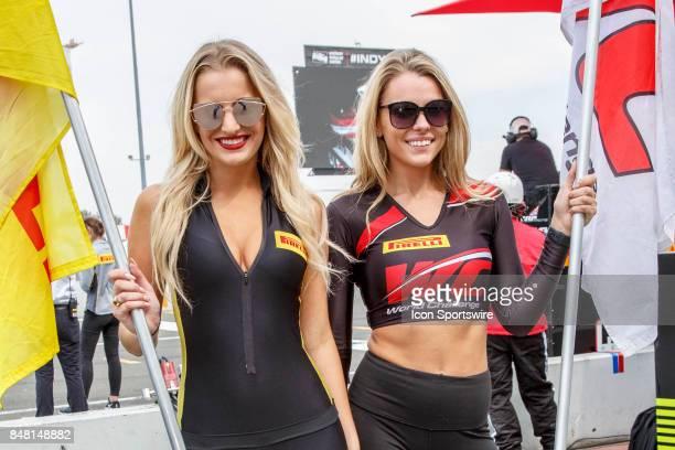 Pirelli umbrella girls at the GoPro Grand Prix of Sonoma held at Sonoma Raceway Sonoma CA