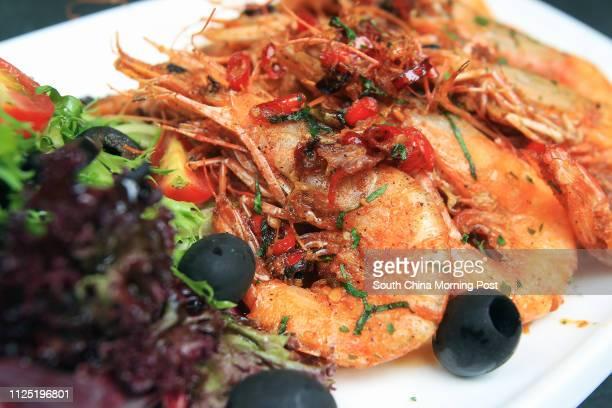Piri Piri prawns from Nino's Cozinha at QRE Plaza in Wanchai 27MAY11