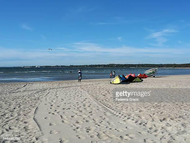 pirita beach, tallinn, baltic sea, estonia, north europe - estonia stock pictures, royalty-free photos & images
