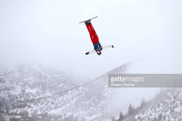 Pirmin Werner of Switzerland during the Men's Aerials qualification practice at the FIS Freestyle Ski World Cup at Deer Valley on February 07 2020 in...