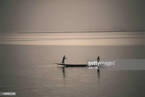 Pirogue on Niger River.