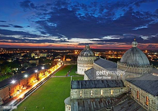Pisa Duomo and Baptistry at night