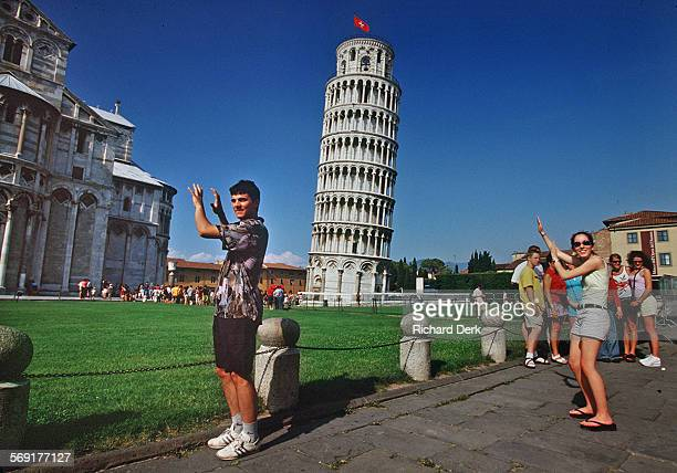 Many tourists shoot the famous picture of a loved one seeming to hold up the Leaning Tower of Pisa