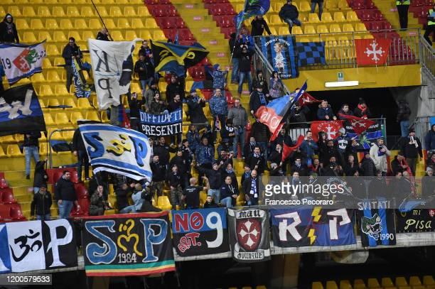 Pisa supporters during the Serie B match between Benevento Calcio and Pisa at Stadio Ciro Vigorito on January 19, 2020 in Benevento, Italy.