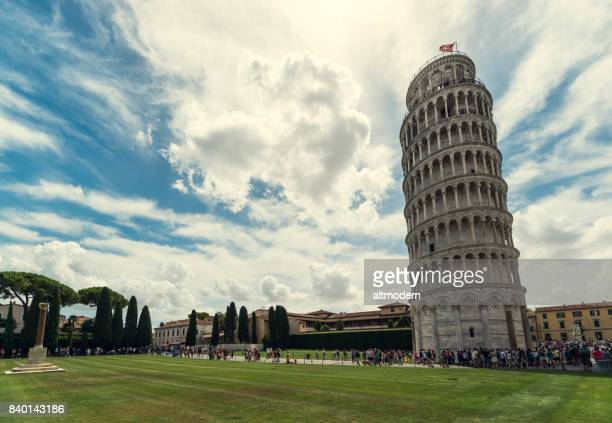 pisa tower - isolated color stock pictures, royalty-free photos & images