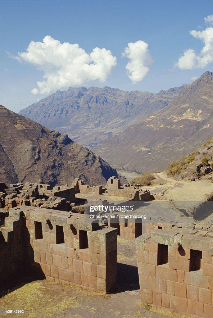 Pisac, Hitching Post of the Sun, Inca site in the Urubamba Valley, Peru, South America : Stockfoto