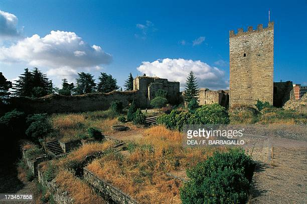 Pisan Tower , Lombardy Castle, Enna, Sicily, Italy.