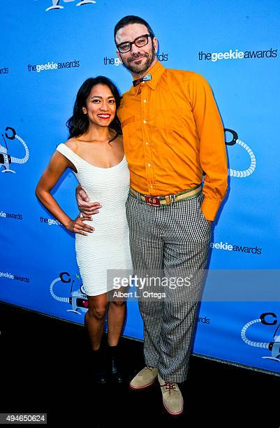 Pisay Pao and Keith Allan arrive for the 3rd Annual Geekie Awards held at Club Nokia on October 15 2015 in Los Angeles California