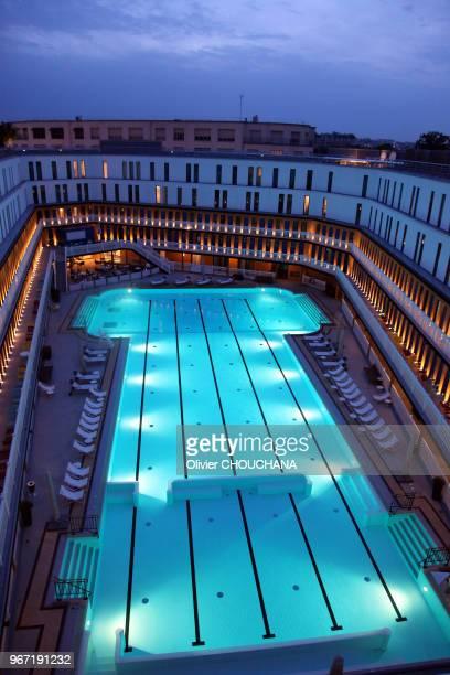 Piscine Molitor construite en 1929 par l'architecte Lucien Pollet et réouverte en mai 2014 pour etre transformée en boutique hôtel de luxe le 18...