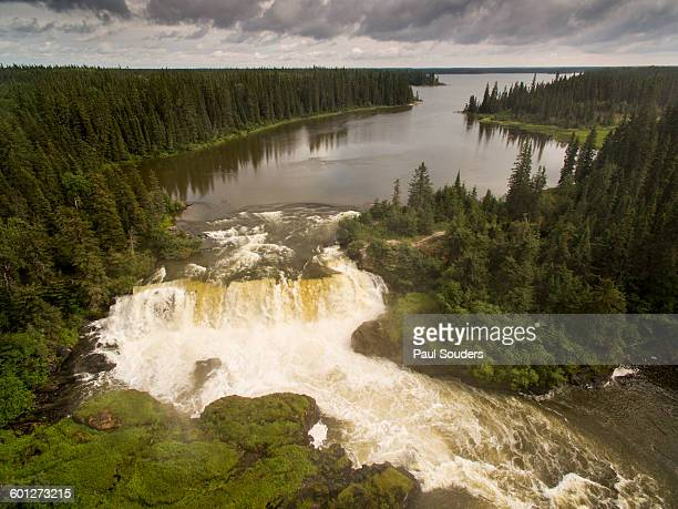pisew falls, manitoba, canada - manitoba stock pictures, royalty-free photos & images