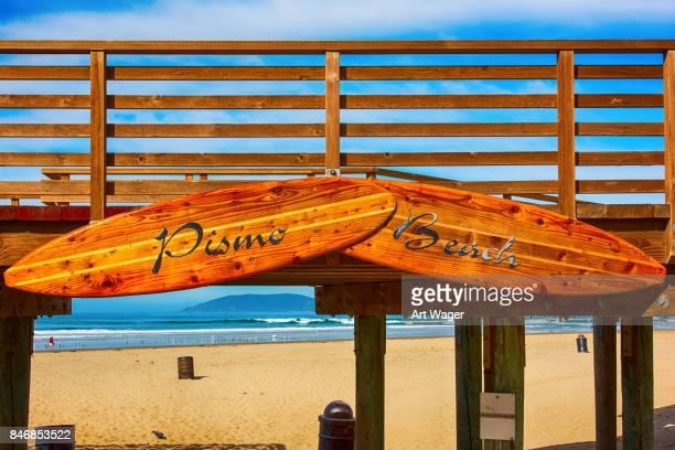 ピズモ ビーチ カリフォルニア州記号 - ピスモビーチ ストックフォトと画像