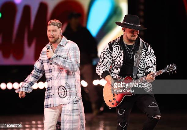 Piso 21 performs onstage during the 2020 Spotify Awards at the Auditorio Nacional on March 05, 2020 in Mexico City, Mexico.